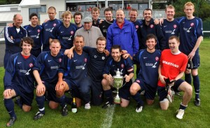 Winning team with Ronnie and his son Graham